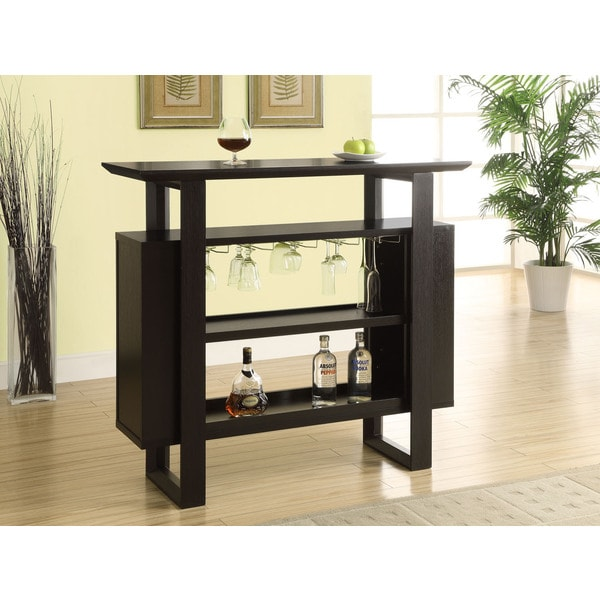 Cappuccino Bar Bottle Glass Storage Unit Dining Furniture Room Storage Wine Home Ebay