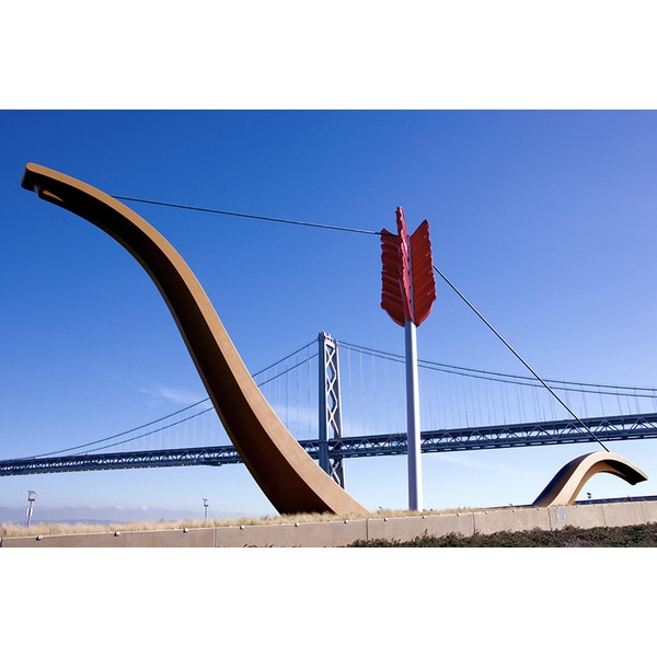 'Cupid's Span on the Embarcadero in San Francisco' Photography Canvas Print