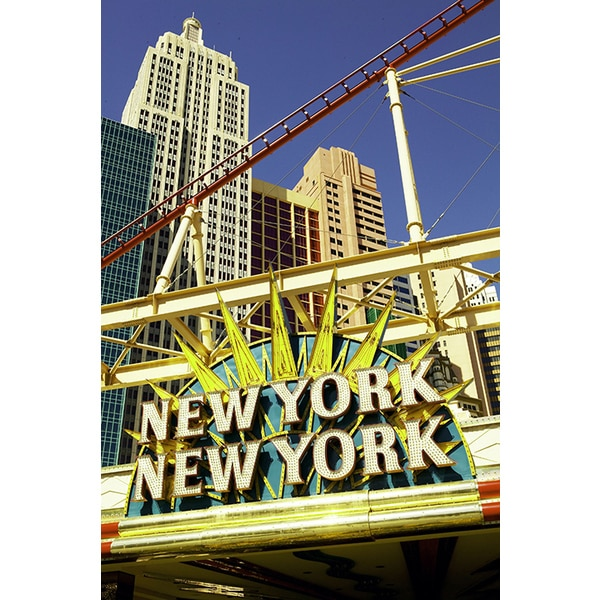 'Marquee for New York City in Las Vegas, Nevada' Photography Canvas Print