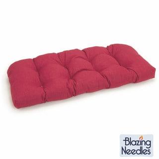 Blazing Needles 42x19-inch Spun Poly Settee Outdoor Cushion