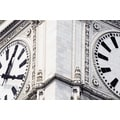 'Close-up of Clock Tower, Wrigley Building, Chicago, Illinois' Photography Canvas Print
