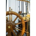 'Close-up of a Ship's Helm, Boston, Massachusetts' Photography Canvas Print
