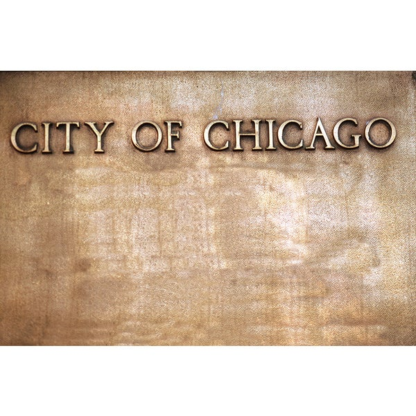 John Foxx 'Sign, City of Chicago, Illinois' Photography Canvas Print