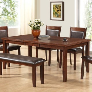 Dark Espresso Ash Veneer Dining Table