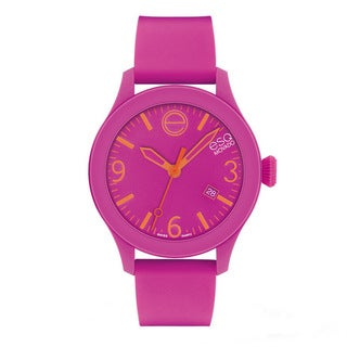 "ESQ by Movado ""ESQ ONE"" Pink Silicone Watch"