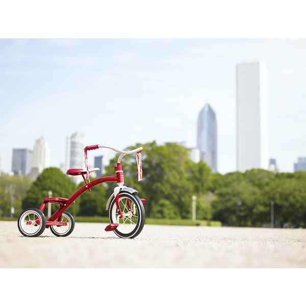 Siri Stafford 'Red Tricycle in Park, Chicago, Illinois' Photography Canvas Print
