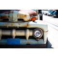 'Rusty Car Parked on Street, San Francisco, California' Photography Canvas Print