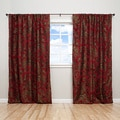 Luxury Jacquard Milano Red 84 inchCurtain Panel Pair