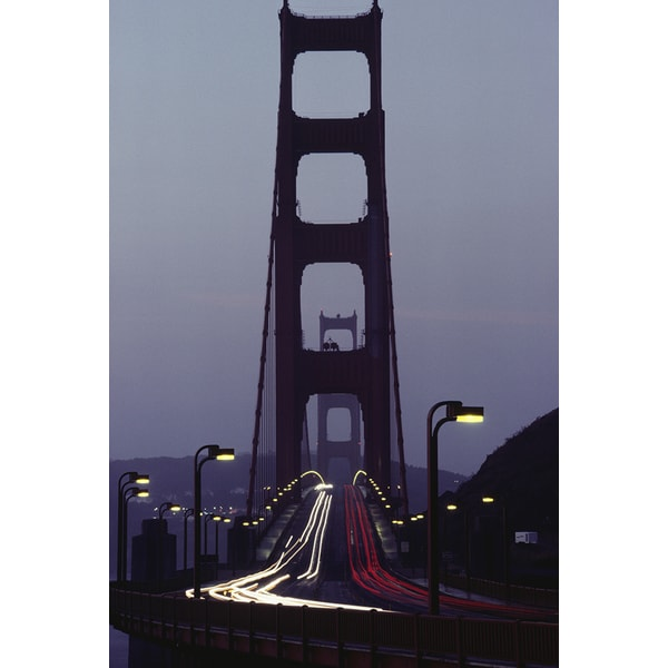 Peter Ginter 'Golden Gate Bridge at dusk, San Francisco, California' Photography Canvas Print