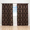 Sherry Kline China Art Black 84-inch Luxury Jacquard Curtain Panel Pair