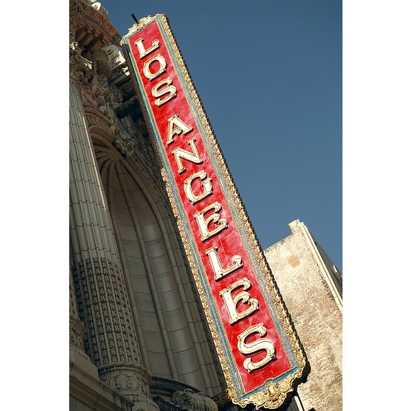 'Los Angeles Sign, Downtown District' Photography Canvas Print
