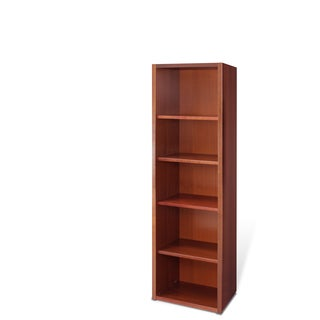 Jesper Office 30-inch Cherry Wood Bookcase