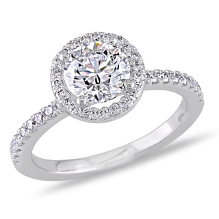 Miadora 18k White Gold 1 1/6ct TDW Certified Diamond Ring (G, VS1) (GIA)