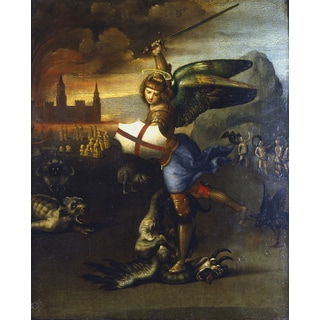 'St Michael the Archangel' Canvas Print