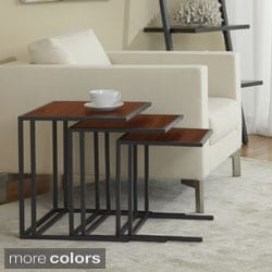 Contemporary Nesting Side Tables (Set of 3)