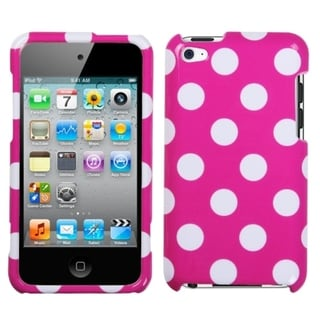 BasAcc White Polka Dots/ Hot Pink Case for Apple iPod Touch 4