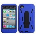 INSTEN Black/ Blue iPod Case Cover with Stand for Apple iPod Touch 4