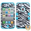 BasAcc Zebra Skin/ Tropical Teal TUFF Case for Apple iPhone 4/ 4S