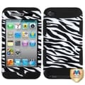 BasAcc Zebra Skin/ Black TUFF Case for Apple iPod Touch 4