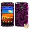 BasAcc Zebra Skin/ Black TUFF Case for Samsung Galaxy S2