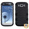 BasAcc Black Vintage Heart Dots/Black TUFF Case for Samsung Galaxy S3