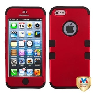 BasAcc Titanium Red/ Black TUFF Case for Apple iPhone 5