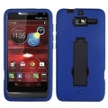 BasAcc Black/ Blue Case with Stand for Motorola XT907 Droid Razr M