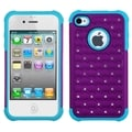 BasAcc Purple/ Tropical Teal Lattice Case for Apple iPhone 4/ 4S