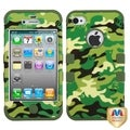 BasAcc Woodland Camo/ Army Green TUFF Case for Apple iPhone 4/ 4S