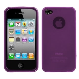INSTEN Semi-transparent Purple Candy Skin Phone Case Cover for Apple iPhone 4/ 4S