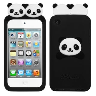 BasAcc Black Peeking Pandas Pastel Case for Apple iPod Touch 4