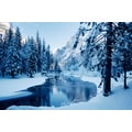 'Snowy River in Yosemite National Park, California' Photography Canvas Print