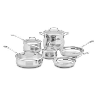 Cuisinart Contour 10-piece Stainless Steel Cookware Set