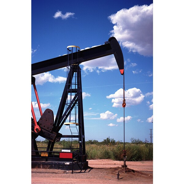 John Foxx 'Texas, Pump Jack in Field' Photography Canvas Print