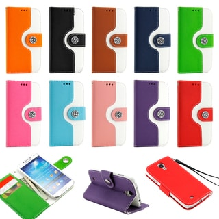 Gearonic Wallet PU Leather Magnetic Flip Case for Samsung Galaxy S4