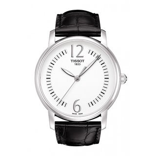 Tissot Women's 'Lady Round' Genuine Leather Strap Watch