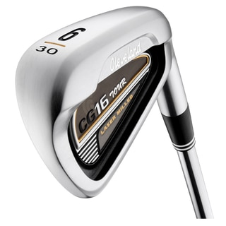 Cleveland Mens CG16 Tour Satin Chrome 3 thru PW Iron Set Steel Shaft