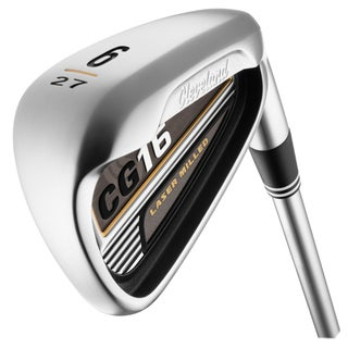 Cleveland Mens CG16 Satin Chrome 3 thru PW Iron Set Steel Shaft