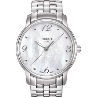 Tissot Women's 'Lady Round' Mother of Pearl Dial Watch