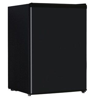 2.4-cubic foot Black Refrigerator