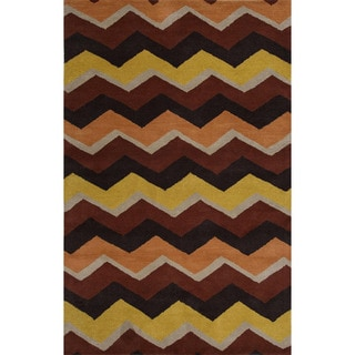 Hand-tufted Vermillion Orange Wool Rug (8' x 10')