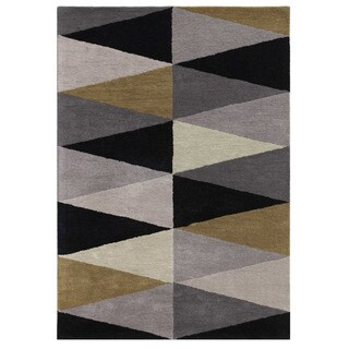 Hand-tufted Stone-gray Wool Area Rug (8' x 10')