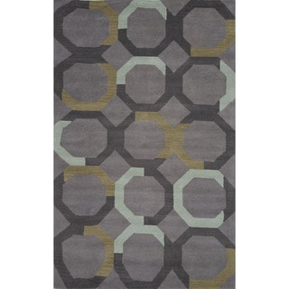 Hand-tufted Medium Gray Wool Rug (8' x 10')