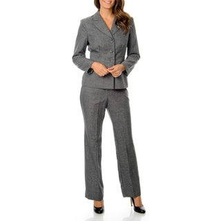 Danillo Women's Washable Grey Menswear Pant Suit