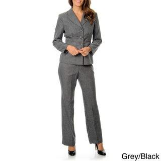Danillo Women's Washable Grey Menswear Pant Suit