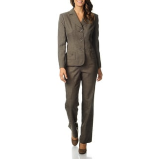 Danillo Women's Camel/ Black 3-button Pant Suit