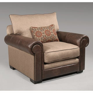 Brown Leather Bonded Avery Chair
