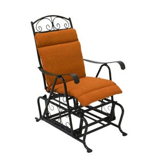 Blazing Needles Spun Poly Glider Chair Outdoor Cushion
