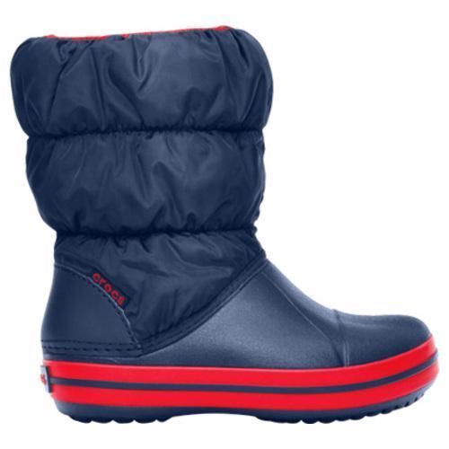 Children's Crocs Winter Puff Boot Navy/Red