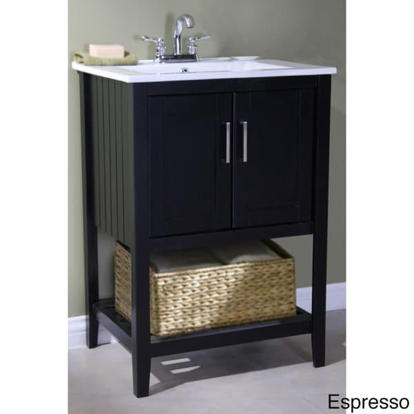 Legion furniture ceramic top 24 inch single sink bathroom - 24 inch bathroom vanity top with sink ...